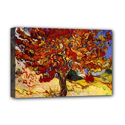 Vincent Van Gogh Mulberry Tree Deluxe Canvas 18  x 12  (Framed)