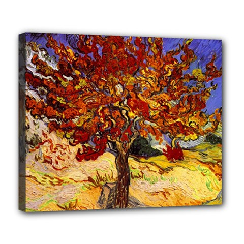 Vincent Van Gogh Mulberry Tree Deluxe Canvas 24  x 20  (Framed)
