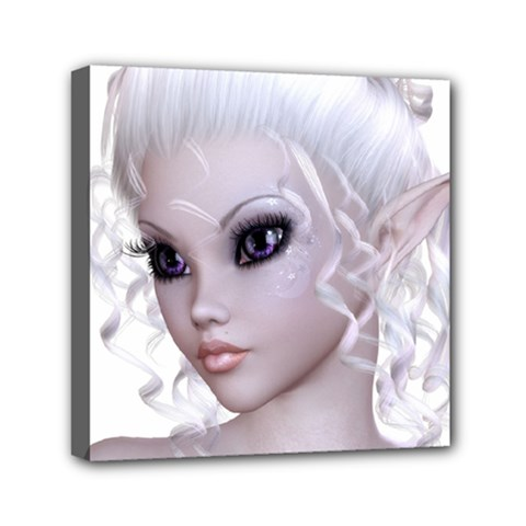 Fairy Elfin Elf Nymph Faerie Mini Canvas 6  x 6  (Framed)