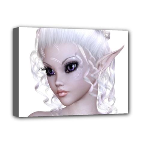Fairy Elfin Elf Nymph Faerie Deluxe Canvas 16  X 12  (framed)
