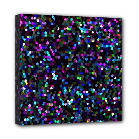 Glitter 1 Mini Canvas 8  X 8  (framed)