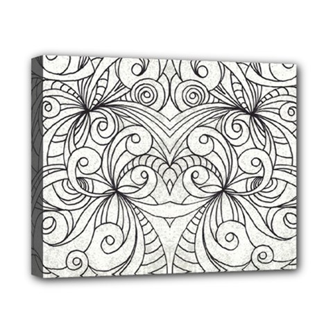 Drawing Floral Doodle 1 Canvas 10  X 8  (framed)