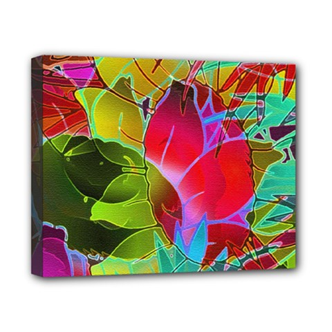 Floral Abstract 1 Canvas 10  X 8  (framed)