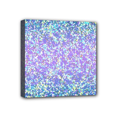 Glitter2 Mini Canvas 4  X 4  (framed)
