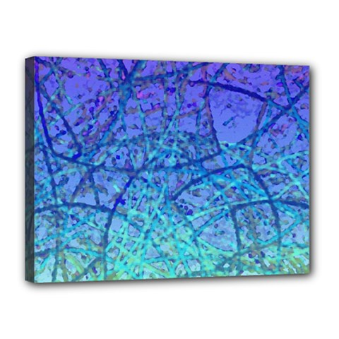 Grunge Art Abstract G57 Canvas 16  x 12  (Stretched)