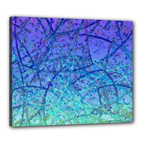 Grunge Art Abstract G57 Canvas 24  X 20  (stretched)