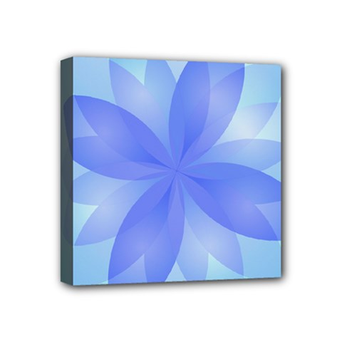 Abstract Lotus Flower 1 Mini Canvas 4  x 4  (Framed)
