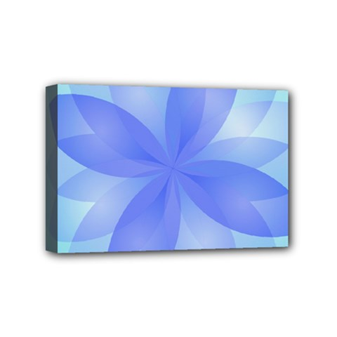 Abstract Lotus Flower 1 Mini Canvas 6  x 4  (Framed)
