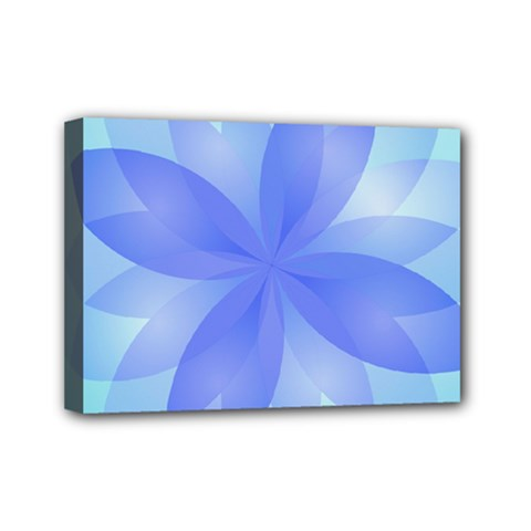 Abstract Lotus Flower 1 Mini Canvas 7  x 5  (Framed)