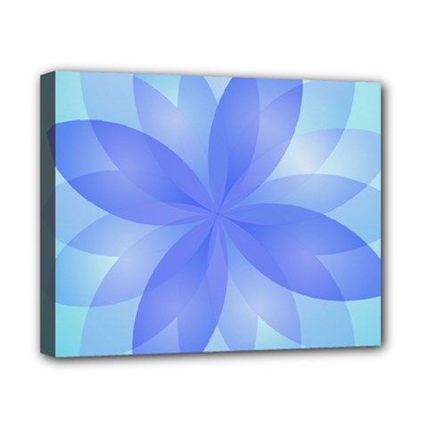 Abstract Lotus Flower 1 Canvas 10  x 8  (Framed)