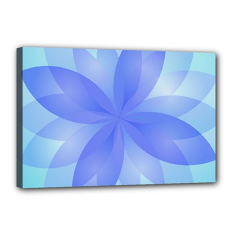 Abstract Lotus Flower 1 Canvas 18  x 12  (Framed)