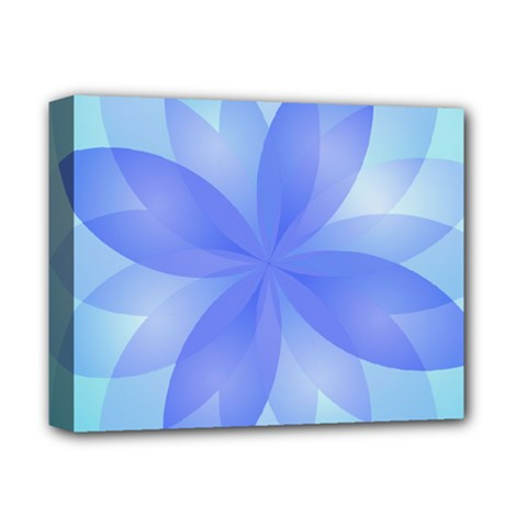 Abstract Lotus Flower 1 Deluxe Canvas 14  x 11  (Framed)