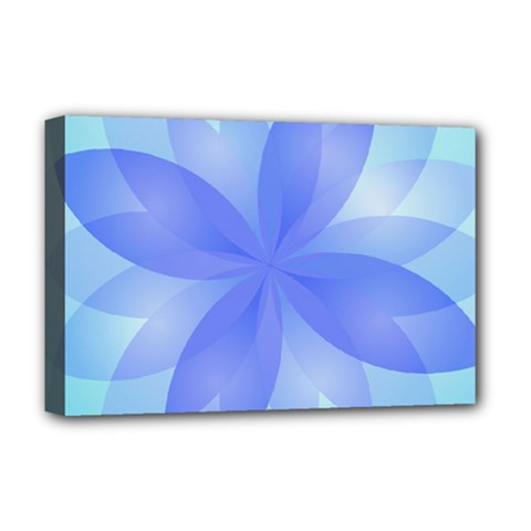 Abstract Lotus Flower 1 Deluxe Canvas 18  X 12  (framed)