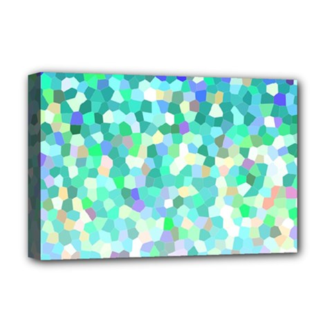 Mosaic Sparkley 1 Deluxe Canvas 18  X 12  (framed)