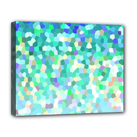 Mosaic Sparkley 1 Deluxe Canvas 20  x 16  (Framed)