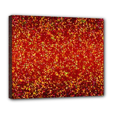 Glitter 3 Deluxe Canvas 24  X 20  (framed)