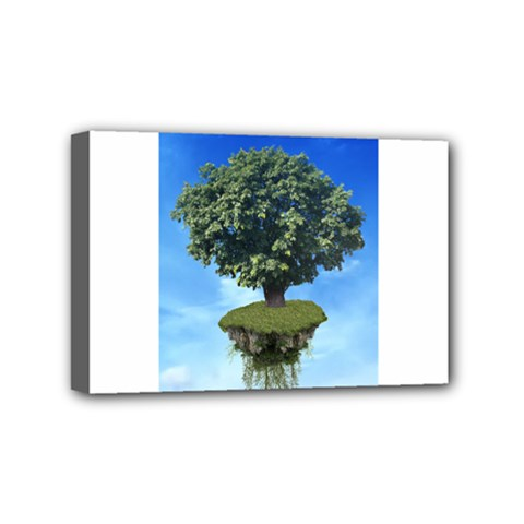 Floating Island Mini Canvas 6  X 4  (framed)