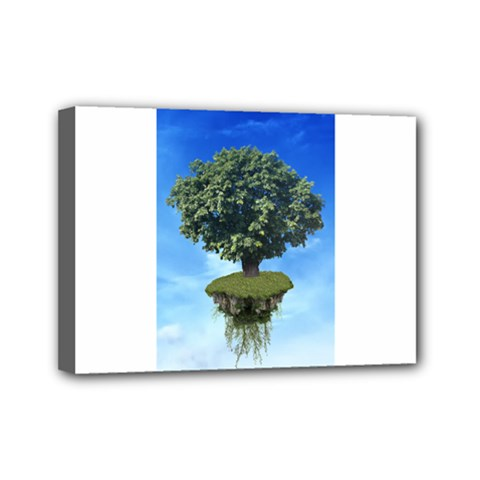 Floating Island Mini Canvas 7  x 5  (Framed)