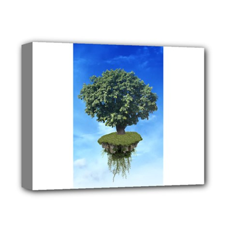 Floating Island Deluxe Canvas 14  X 11  (framed)