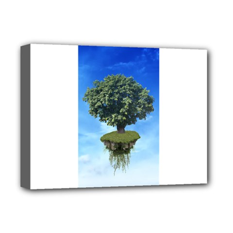 Floating Island Deluxe Canvas 16  x 12  (Framed)