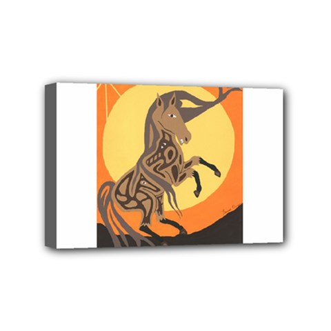 Embracing The Moon Copy Mini Canvas 6  x 4  (Framed)