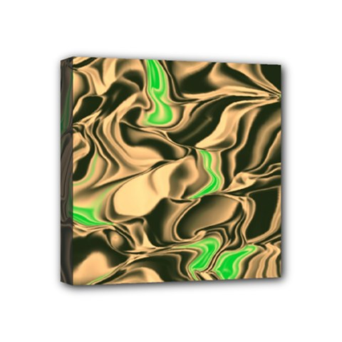 Retro Swirl Mini Canvas 4  X 4  (framed)