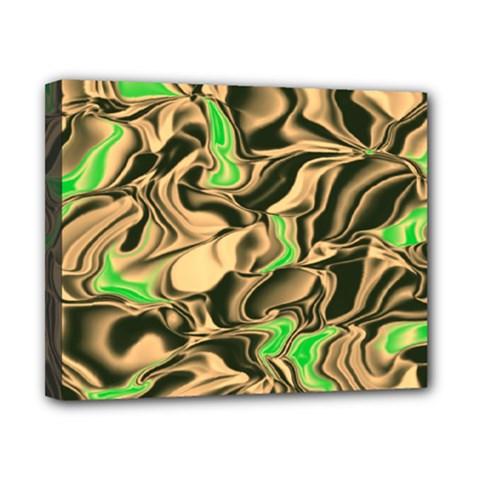 Retro Swirl Canvas 10  x 8  (Framed)