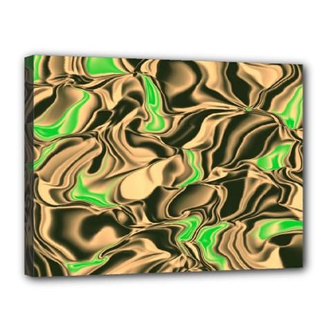 Retro Swirl Canvas 16  X 12  (framed)