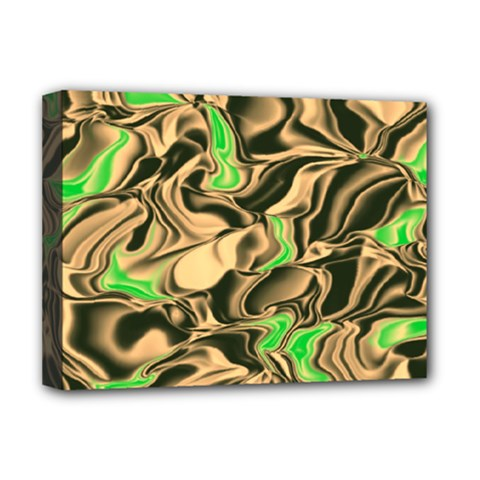 Retro Swirl Deluxe Canvas 16  x 12  (Framed)