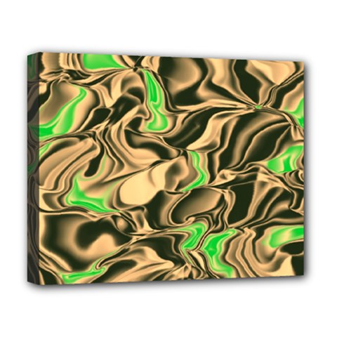 Retro Swirl Deluxe Canvas 20  x 16  (Framed)