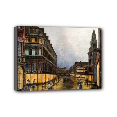 Out on the Town Mini Canvas 7  x 5  (Framed)