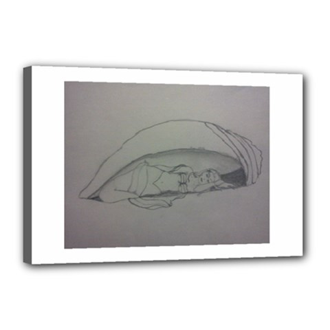 Restful Canvas 18  X 12  (framed)