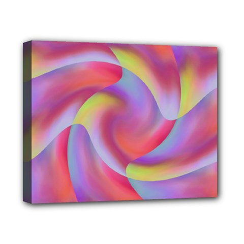 Colored Swirls Canvas 10  x 8  (Framed)