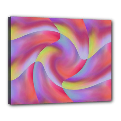 Colored Swirls Canvas 20  x 16  (Framed)