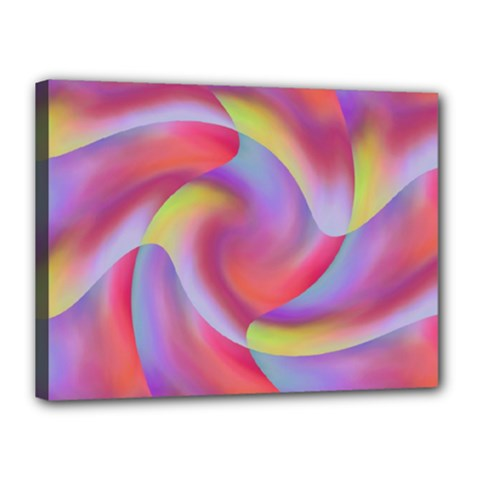 Colored Swirls Canvas 16  x 12  (Framed)