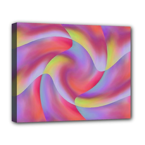 Colored Swirls Deluxe Canvas 20  x 16  (Framed)