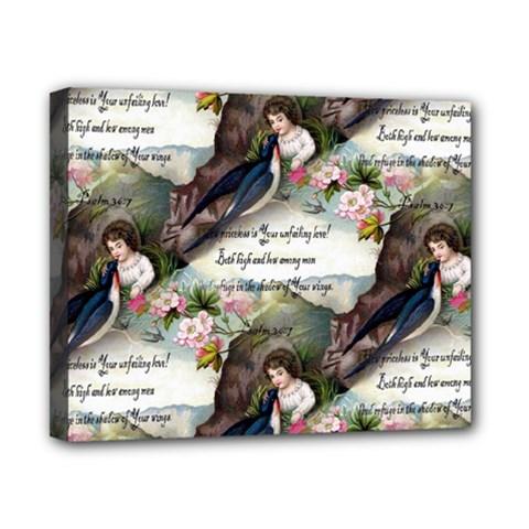 Vintage Valentine Postcard Canvas 10  x 8  (Framed)