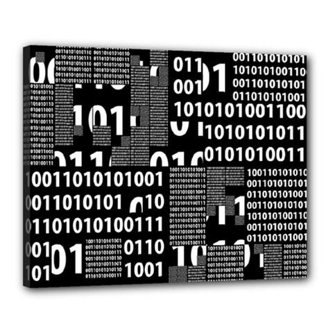 Beauty of Binary Canvas 20  x 16  (Framed)