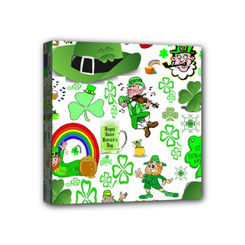 St Patrick s Day Collage Mini Canvas 4  x 4  (Framed)