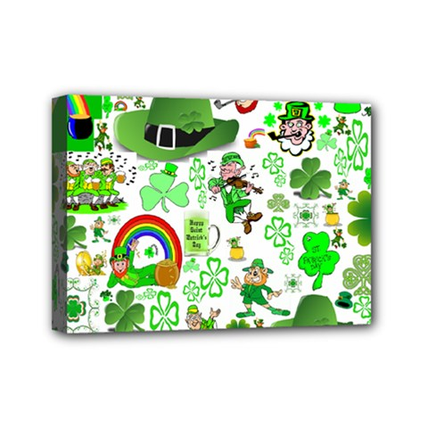 St Patrick s Day Collage Mini Canvas 7  x 5  (Framed)
