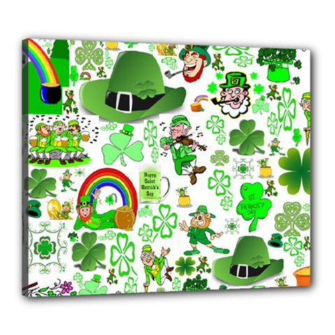 St Patrick s Day Collage Canvas 24  X 20  (framed)