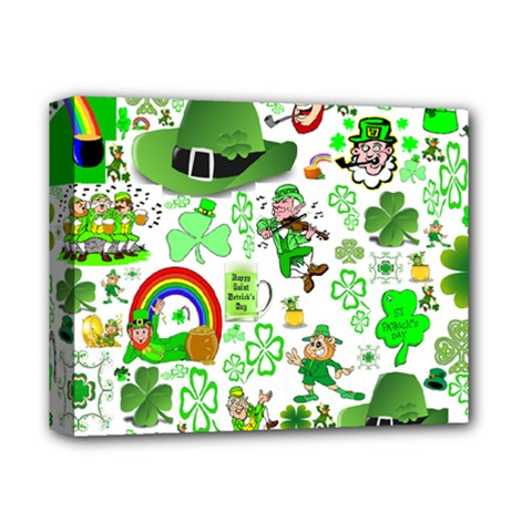 St Patrick s Day Collage Deluxe Canvas 14  X 11  (framed)