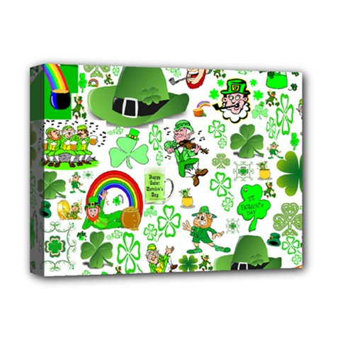St Patrick s Day Collage Deluxe Canvas 16  X 12  (framed)