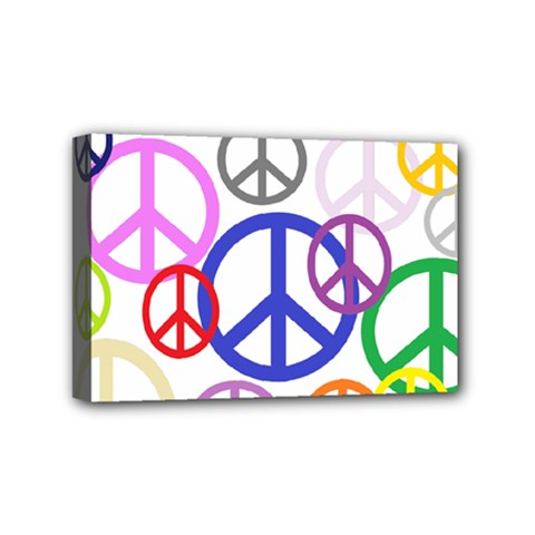 Peace Sign Collage Png Mini Canvas 6  x 4  (Framed)