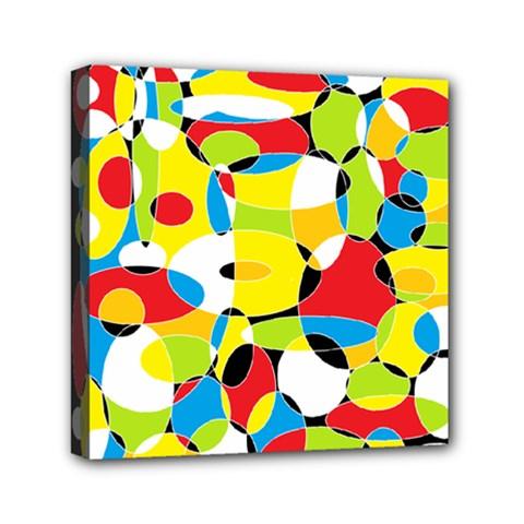 Interlocking Circles Mini Canvas 6  x 6  (Framed)