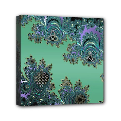 Celtic Symbolic Fractal Mini Canvas 6  x 6  (Framed)