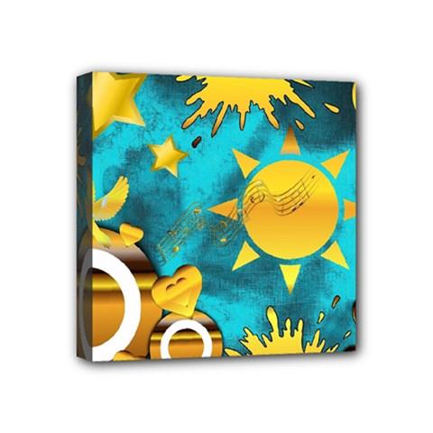 Musical Peace Mini Canvas 4  x 4  (Framed)