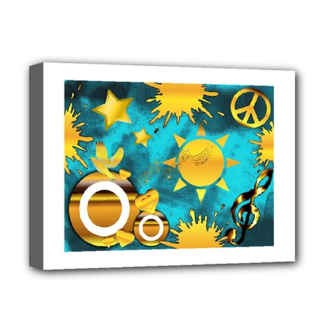 Musical Peace Deluxe Canvas 16  X 12  (framed)