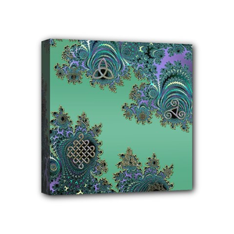 Celtic Symbolic Fractal Mini Canvas 4  x 4  (Framed)