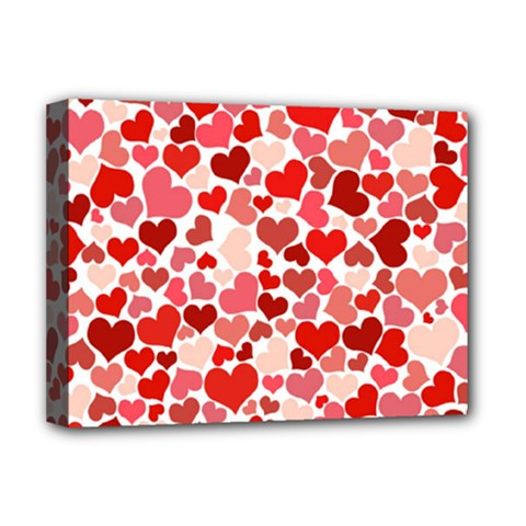 Pretty Hearts  Deluxe Canvas 16  x 12  (Framed)